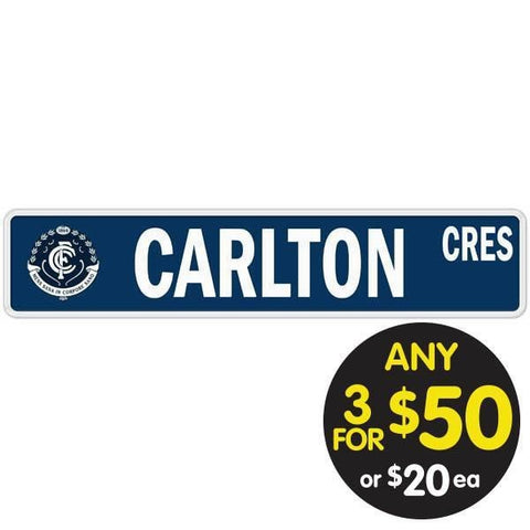 AFL TIN SIGN STREET CARLTON