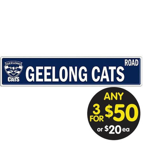 AFL TIN SIGN STREET GEELONG
