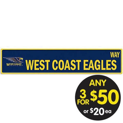 AFL TIN SIGN STREET WEST COAST