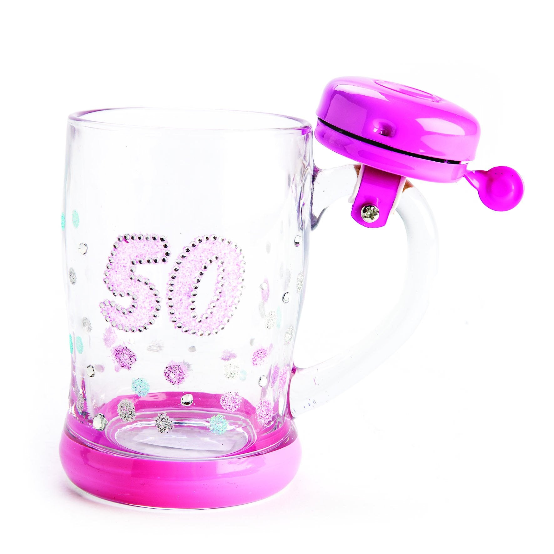 BELL MUG 50TH BIRTHDAY SPARKLE