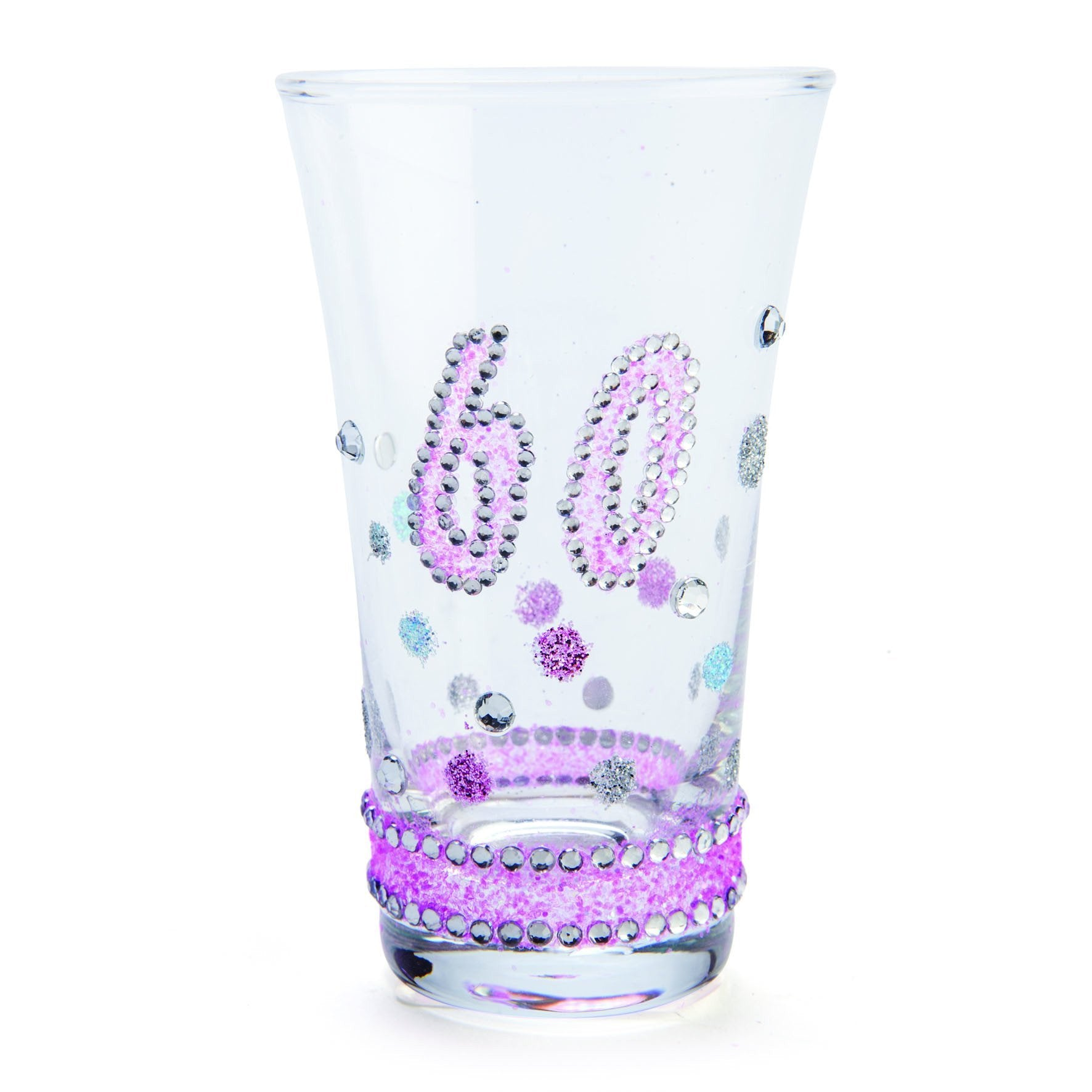 SHOT GLASS 60TH BIRTHDAY SPARKLE