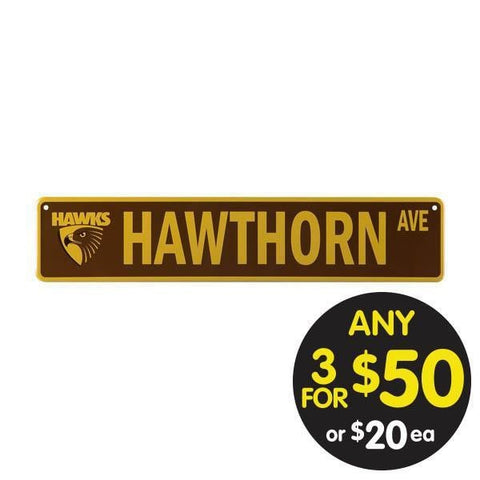AFL TIN STREET SIGN HAWTHORN