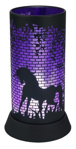 Black and Purple Unicorn Silhouette Lamp