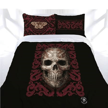 Anne Stokes Quilt Cover Oriental Skull Queen