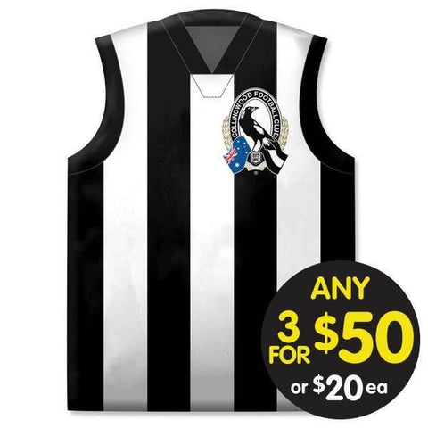 AFL CUSHION GUERNSEY 35X40CM COLLINGWOOD
