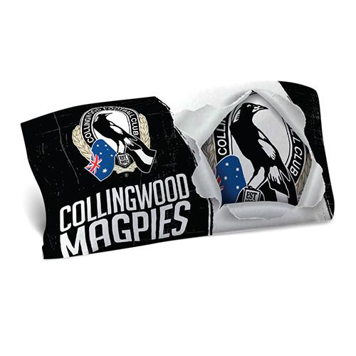 AFL PILLOW CASE 73X48CM COLLINGWOOD