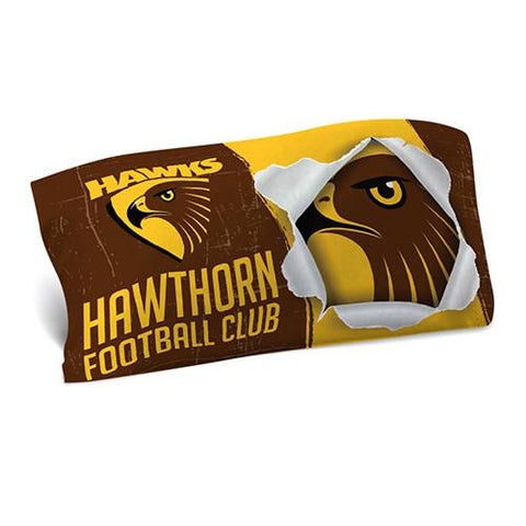 AFL PILLOW CASE 73X48CM HAWTHORN