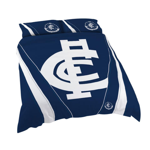 AFL CARLTON QUEEN QUILT COVER