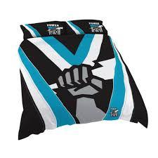 AFL QUILT COVER QUEEN SIZE PORT ADELAIDE