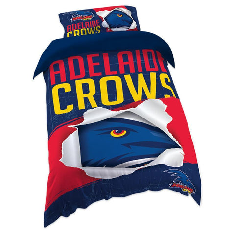 AFL ADELAIDE SINGLE QUILT COVER