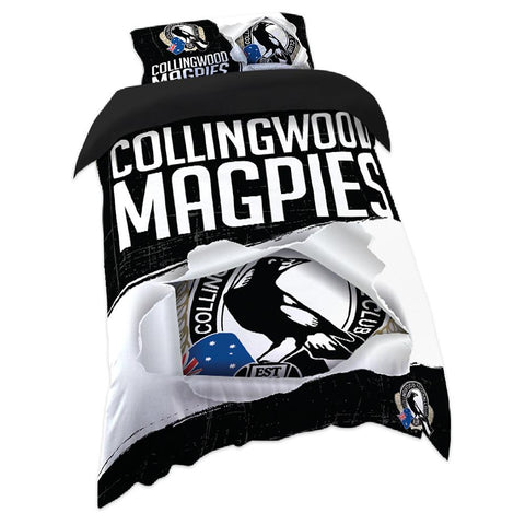 AFL QUILT COVER SINGLE SIZE COLLINGWOOD