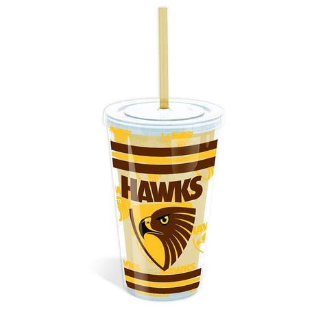 AFL TUMBLER WITH STRAW HAWTHORN
