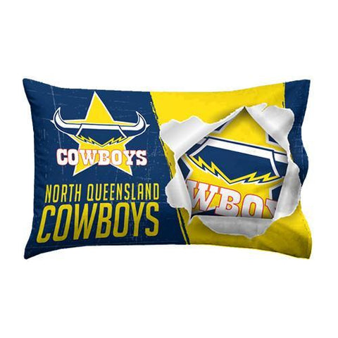 NRL PILLOW CASE 73X48CM COWBOYS