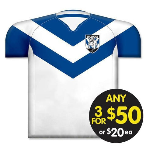 NRL CUSHION JERSEY 35X40CM BULLDOGS