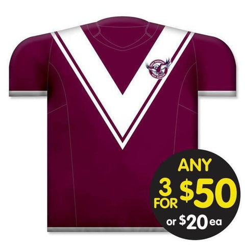 NRL CUSHION JERSEY 35X40CM MANLY