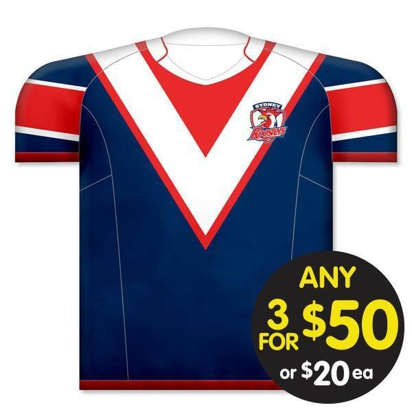 NRL CUSHION JERSEY 35X40CM ROOSTERS