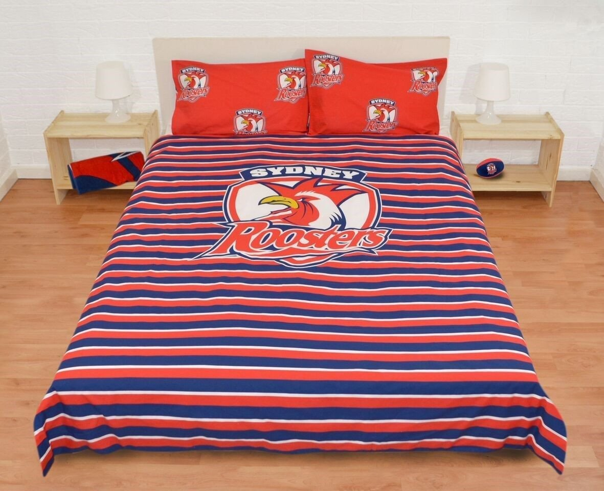 NRL ROOSTERS QUILT COVER QUEEN