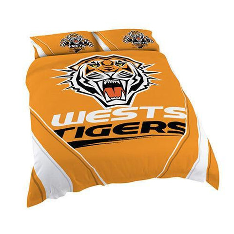NRL Tigers Queen Size Quilt Cover
