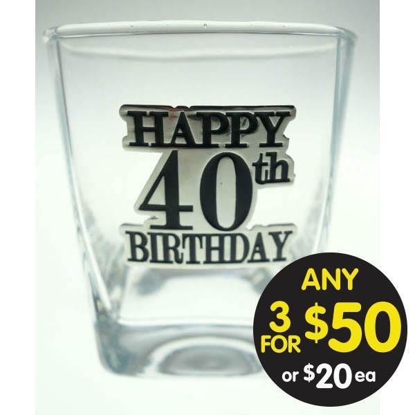SPIRIT GLASS 40TH BADGED