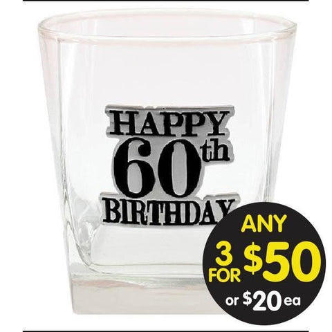 SPIRIT GLASS 60TH BADGED