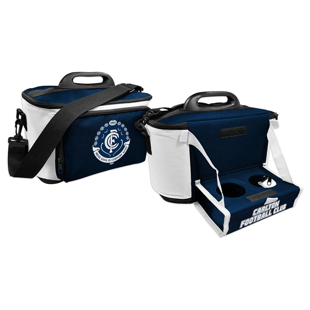 AFL COOLER BAG WITH DROP TRAY FLAT PACK CARLTON