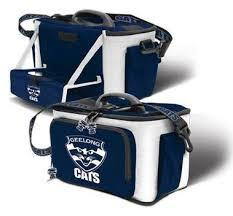 AFL COOLER BAG WITH DROP TRAY FLAT PACK GEELONG