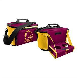 NRL COOLER BAG WITH DROP TRAY FLAT PACK BRONCOS