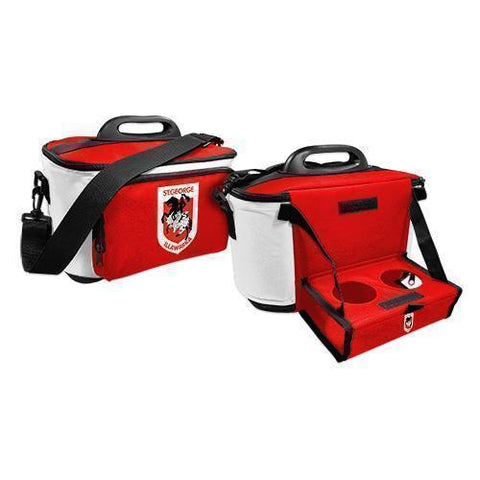 NRL COOLER BAG WITH DROP TRAY FLAT PACK DRAGONS