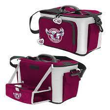 NRL COOLER BAG WITH DROP TRAY FLAT PACK MANLY