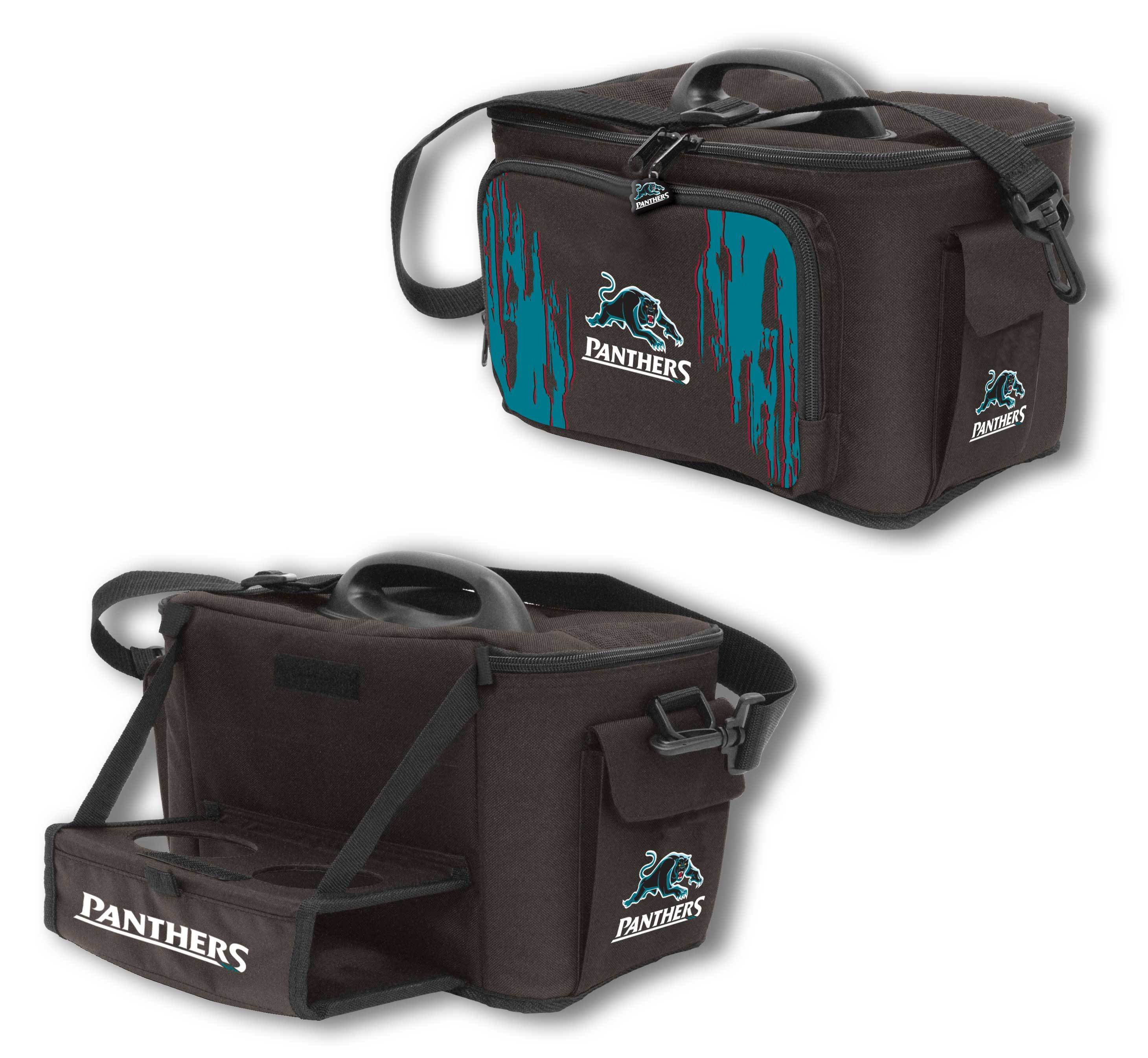 NRL COOLER BAG WITH DROP TRAY FLAT PACK PANTHERS