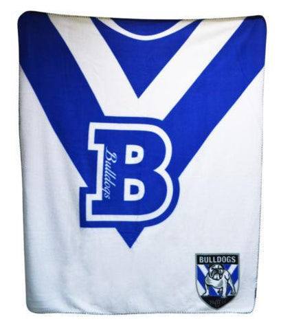 NRL BULLDOGS POLAR FLEECE RUG