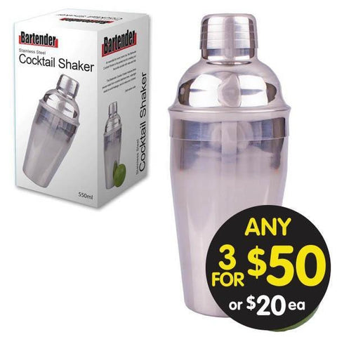Bartender Stainless Steel Shaker 550ml