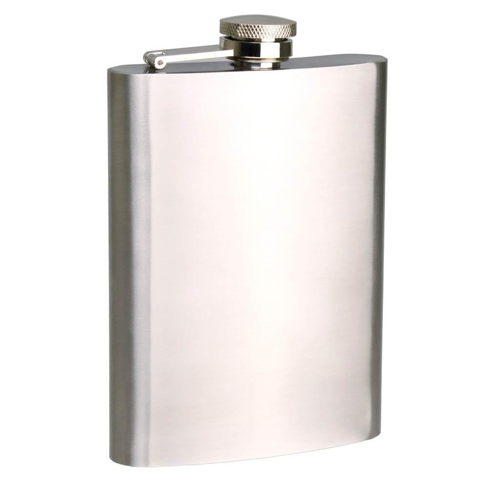 Bartender 8OZ Satin Stainless Steel Hip Flask
