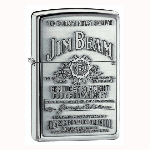 Zippo - Jim Beam Full Label Pewter