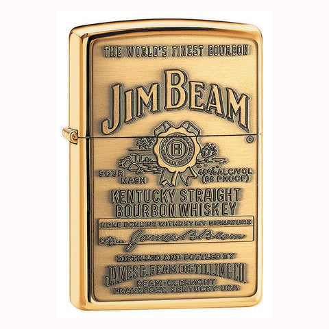 Zippo - Jim Beam Full Label Brass