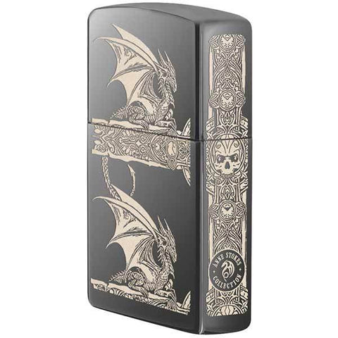 Zippo - 2 Dragons on Black Ice