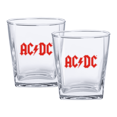 ACDC Spirit Glasses Logo Set Of 2