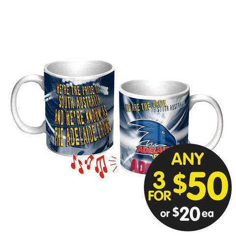AFL COFFEE MUG MUSICAL ADELAIDE