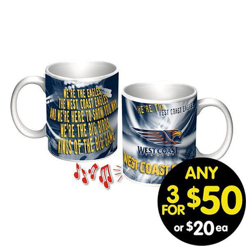 WEST COAST EAGLES MUSICAL MUG