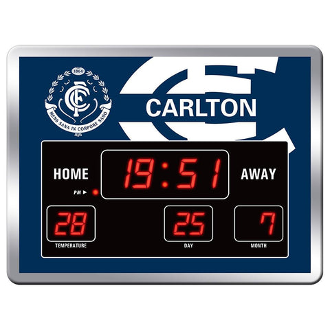 CARLTON BLUES SCOREBOARD CLOCK