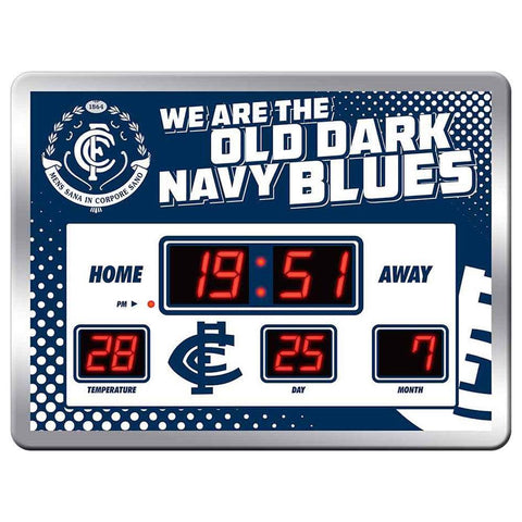 AFL Team Song Scoreboard Clock 45X33cm Carlton