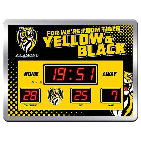 AFL Team Song Scoreboard Clock 45X33cm Richmond