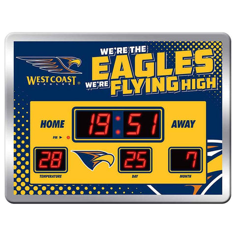 AFL Team Song Scoreboard Clock 45X33cm West Coast