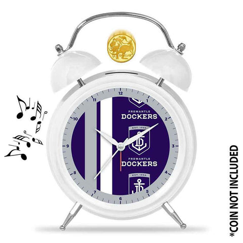 AFL Clock Alarm Musical 21Cm Fremantle