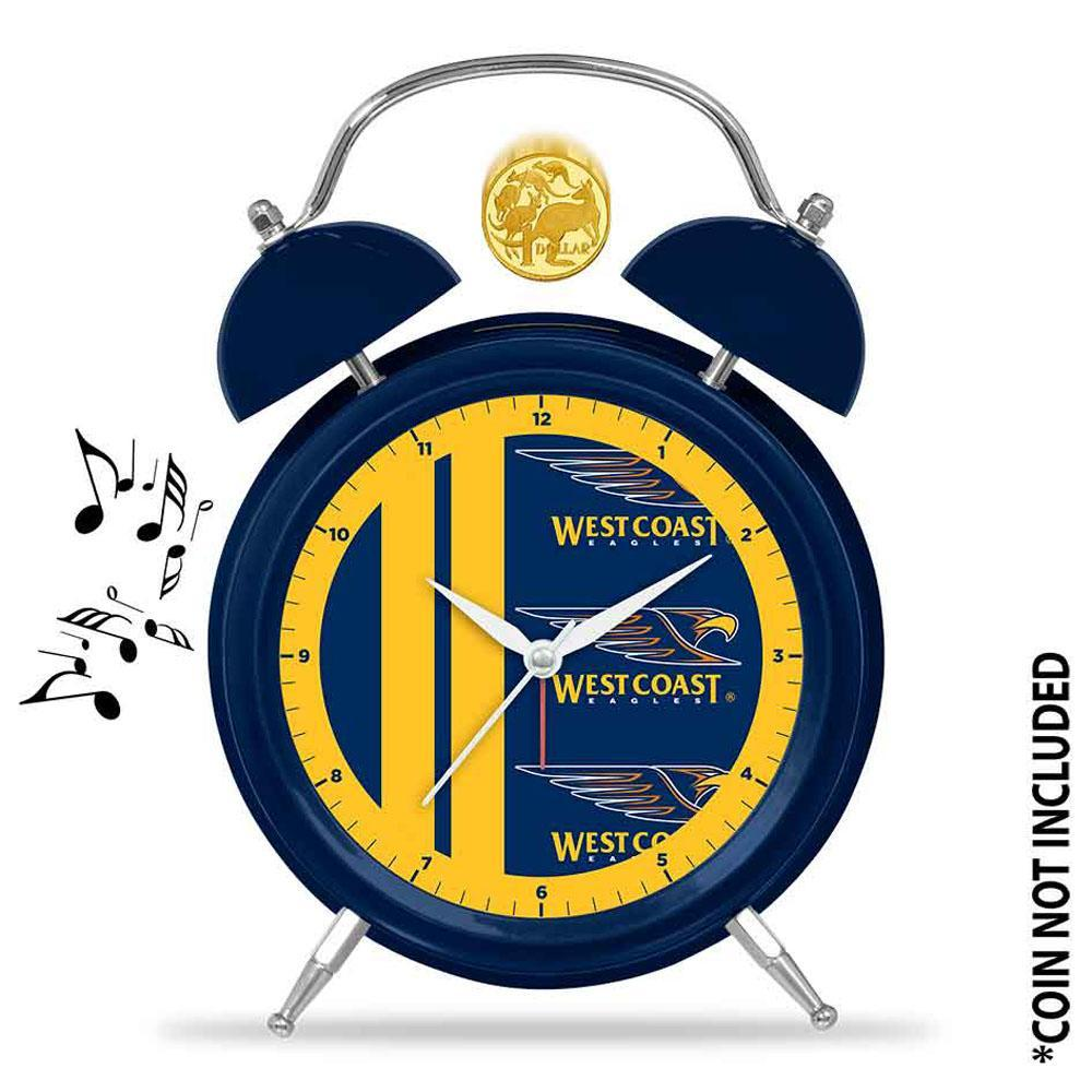 AFL Musical Alarm Clock 21cm West Coast