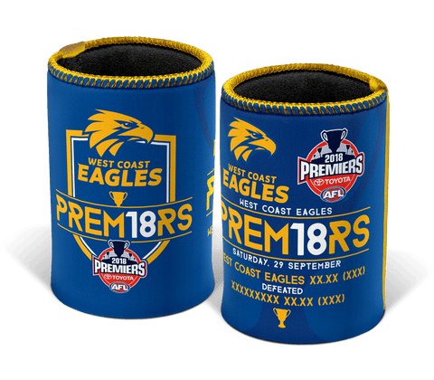 AFL West Coast Eagles Premier 2018 Team Can Cooler