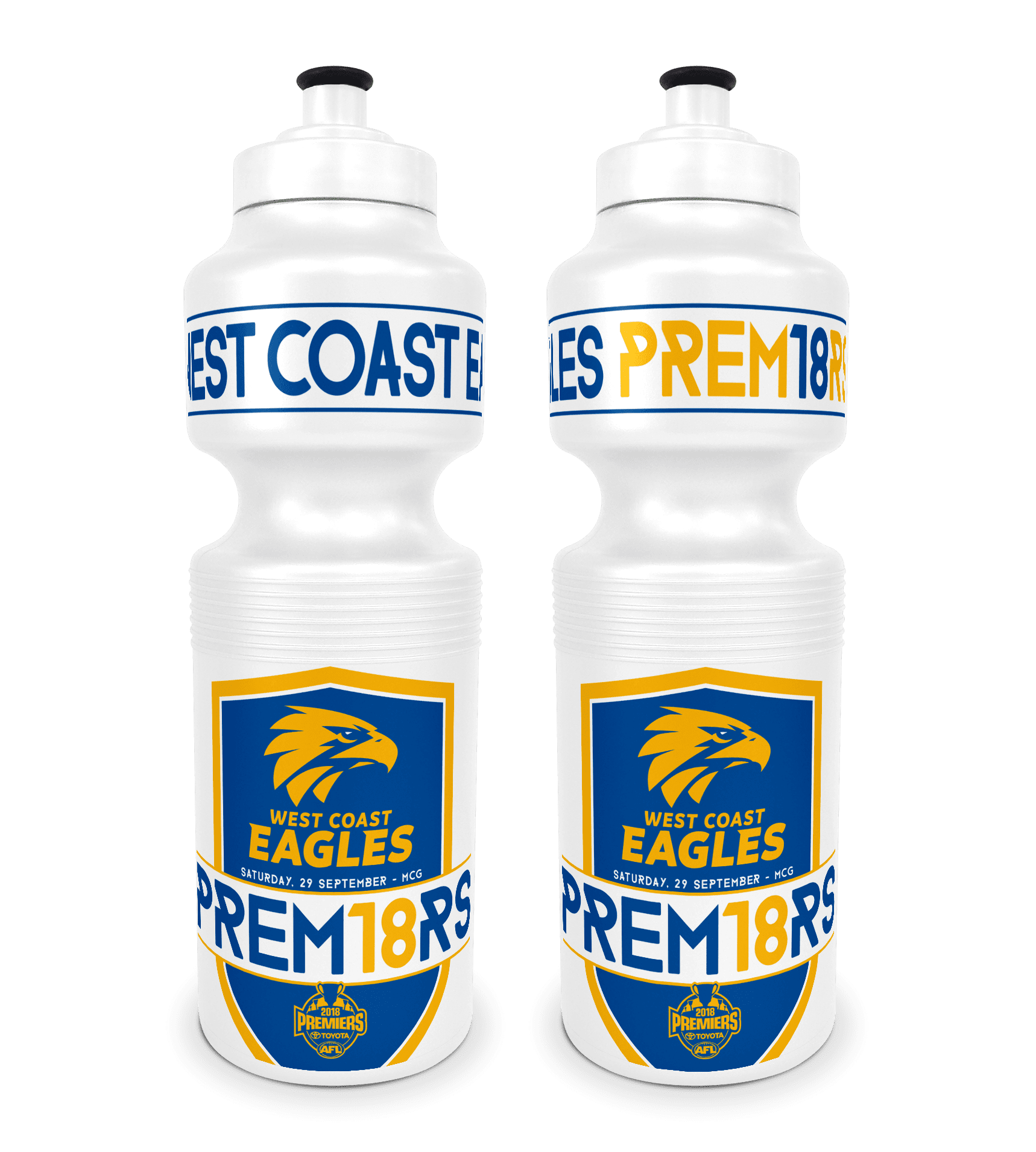AFL West Coast Eagles Premier 2018 Team Sports Bottle