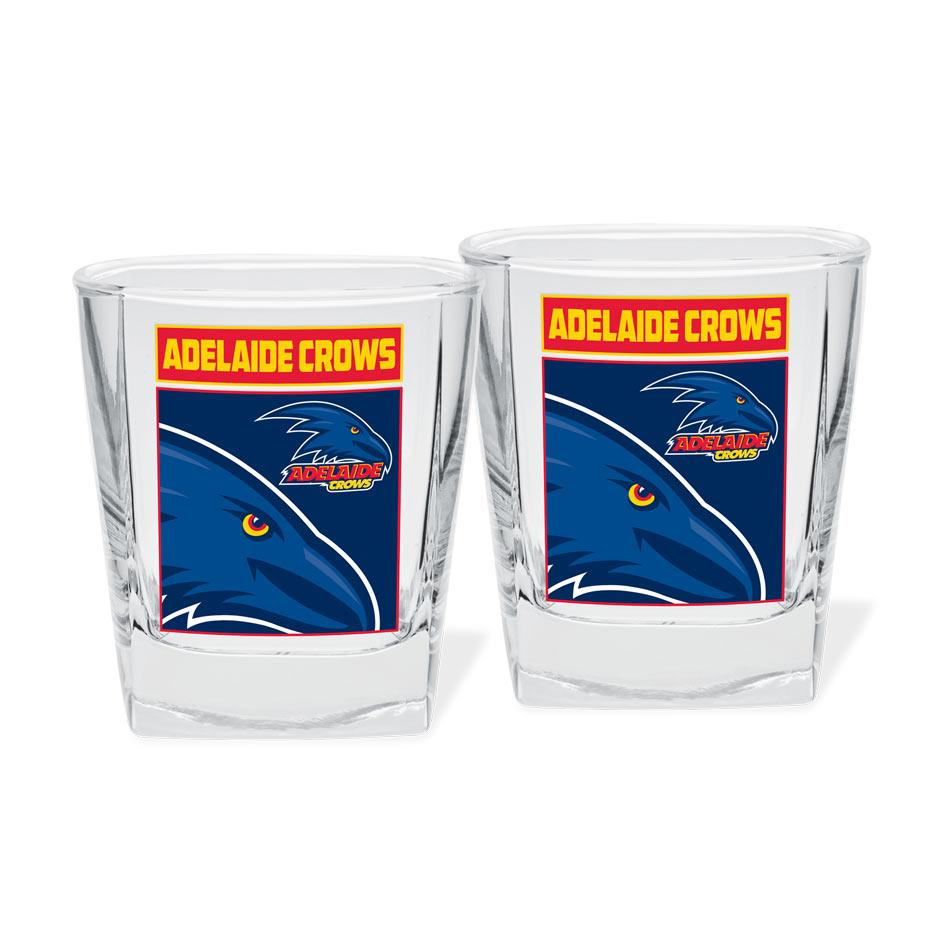 AFL Spirit Glasses Set Of 2 Adelaide