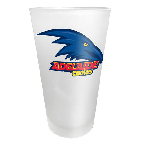 AFL Adelaide Crows Glass Frosted