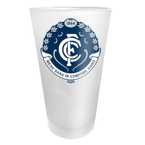 AFL Glass Frosted Carlton